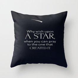 Stars and God Throw Pillow