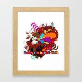 Down the Rabbit-Hole Framed Art Print