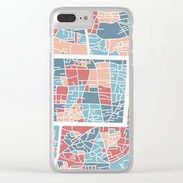 Chiang Mai map Clear iPhone Case