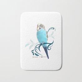 Blue Parakeet Bath Mat
