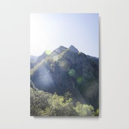 Breathe in the mountain light Metal Print