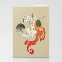 okami Stationery Cards featuring Okami Amaterasu  by Ectoimp