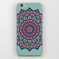 islam iPhone & iPod Skins featuring Mandala Blue by Mantra Mandala