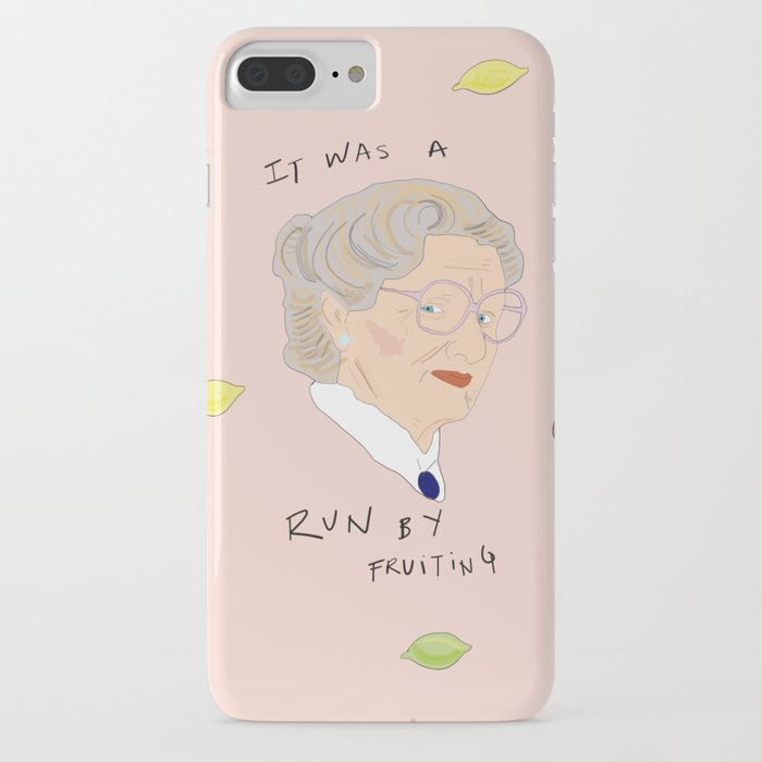 run by fruiting iphone case