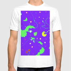 Pac-Man Mens Fitted Tee MEDIUM White
