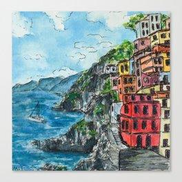 Viareggio, Cinque Terre Canvas Print