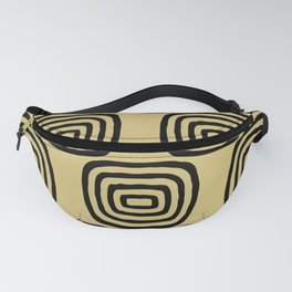 Mid Century Modern Concentric Pattern 253 Fanny Pack