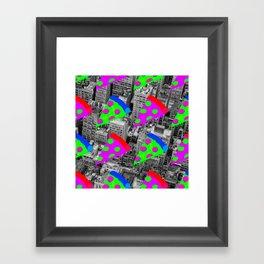 Pizza Invasion NYC Framed Art Print