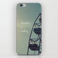 coasters iPhone & iPod Skins featuring Adventure is Waiting by RDelean