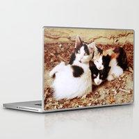 thundercats Laptop & iPad Skins featuring Three Kitties by Augustinet