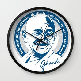 Ghandi Wall Clock