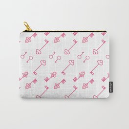 Hand painted pink watercolor vintage keys pattern Carry-All Pouch