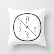 S6 : hipster clip Society6 Throw Pillow