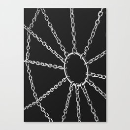 Web of pleasure and pain Canvas Print