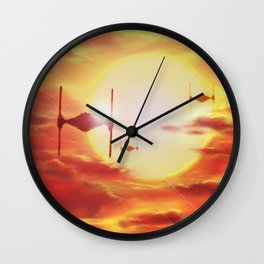 Tie Fighters Wall Clock