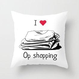 I love op shopping Throw Pillow