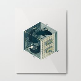 Cube 03 Metal Print