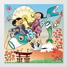 Japan flying fish Canvas Print