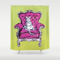 lime Shower Curtains featuring Lime by Rebel June