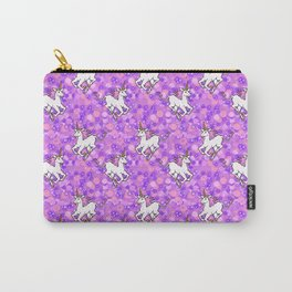 Unicorns in Purple Space Carry-All Pouch