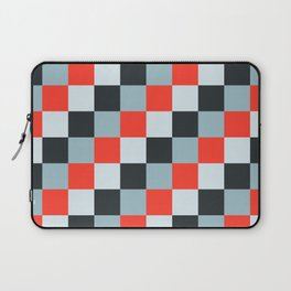 Stainless steel knife - Pixel patten in light gray , light blue and red Laptop Sleeve