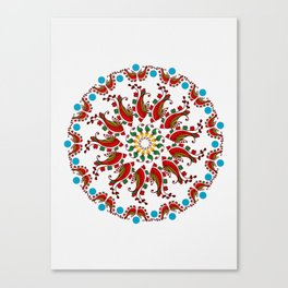 Hand drawn Mandala design Canvas Print