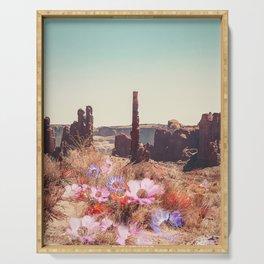 Floral Desert Blooms Serving Tray