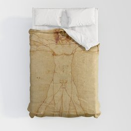 VITRUVIAN MAN - LEONARDO DA VINCI Comforters