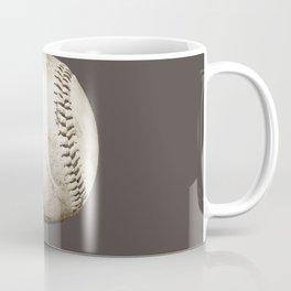 Big Baseball Illustration brown Coffee Mug