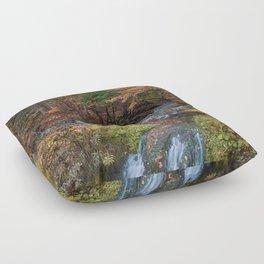 the Stone Bridge Floor Pillow