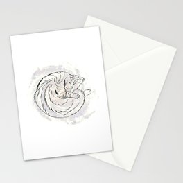cat cosmos Stationery Cards