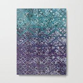 Purple Aqua MERMAID Glitter Scales Dream #2 #shiny #decor #art #society6 Metal Print