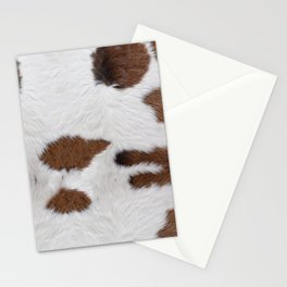 Cow Fur Texture Stationery Cards