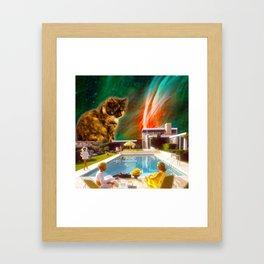 Cuddle Unit 5 with Midcentury Nebula Framed Art Print