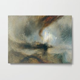 """J.M.W. Turner """"Snow Storm - Steam-Boat off a Harbour's Mouth"""" Metal Print"""
