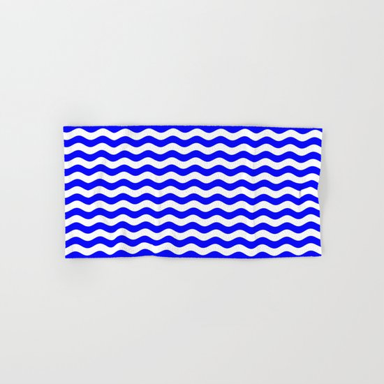 Wavy Stripes (Blue/White) Hand & Bath Towel