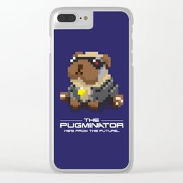The Pugminator Clear iPhone Case