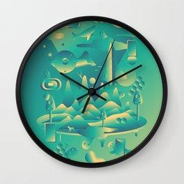 Geometromorphic Dream Wall Clock
