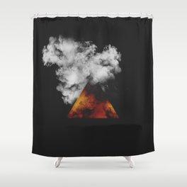 Triangle of Fire & Smoke Shower Curtain