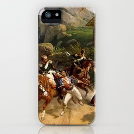 Classical Masterpiece Italian Brigands Surprised by Papal Troops by Horace Vernet iPhone Case