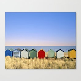 Beach Huts at Southwold (Suffolk/Great Britain) Canvas Print