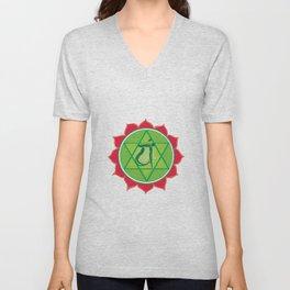 Anahata Heart Green Chakra Unisex V-Neck