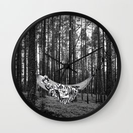 BETWEEN TREES Wall Clock