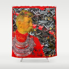 THE INVENTOR, IN RED II Shower Curtain