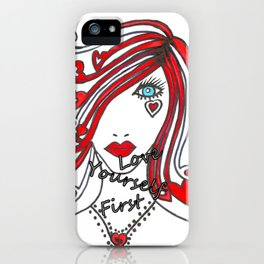 Love Yourself First - Typography iPhone Case