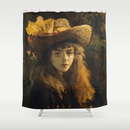 Courbet - Portrait of a Young Woman Shower Curtain