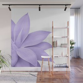 Agave Finesse #9 - Ultra Violet on White #tropical #decor #art #society6 Wall Mural