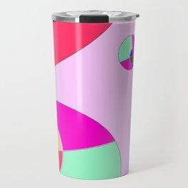 Bubble pink Travel Mug