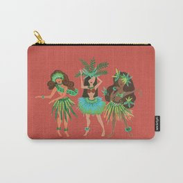 Luau Girls on Coral Carry-All Pouch