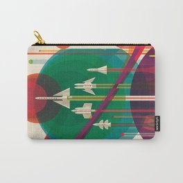 NASA Retro Space Travel Poster #5 Carry-All Pouch